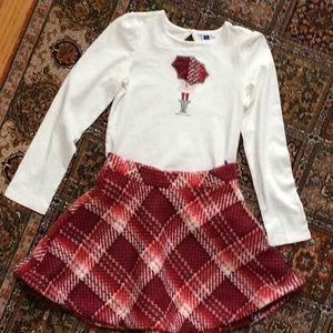 Janie and Jack Umbrella Knit Skirt Set Size 7/8